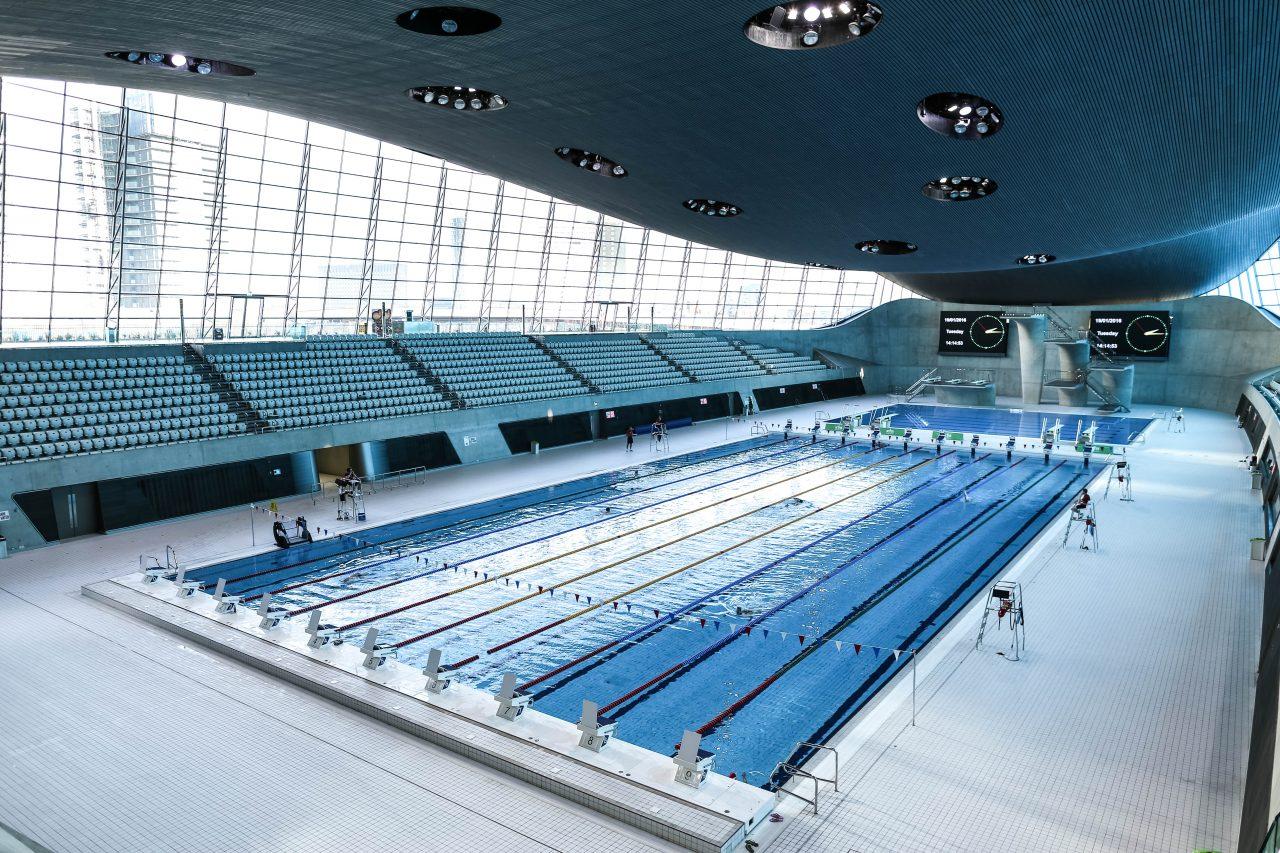 London aquatics centre ala champ - How many olympic sized swimming pools in uk ...