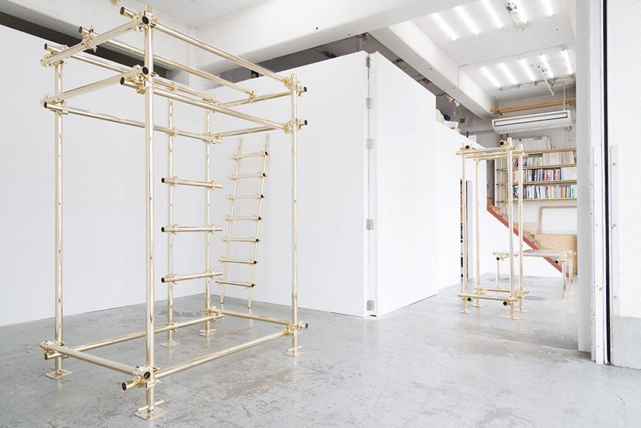 Gold Pipe Furniture By Daisuke Motogi Architects © Takashi Fujikawa